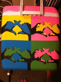 chi omega cooler, andy warhol style, too CUTE