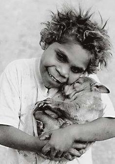 Australia - Wombat 1 Original Photographic Art Print Black and White Photography Coonana Aboriginal Community Western Australia Aboriginal History, Aboriginal Culture, Aboriginal People, Australian Aboriginals, First Nations, Beautiful Children, People Around The World, Animals For Kids, Black And White Photography