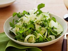 Bored with your romaine-only salads? Start with a watercress-and-fennel base for their peppery and anise flavors, mix in sweet-and-sour Granny Smith apple slices and top with a spicy citrus dressing.