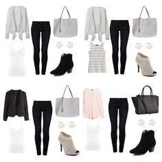 Work Wardrobe, Collage, Polyvore, Closet, Image, Fashion, Moda, Collages, Armoire