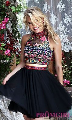 Short Two Piece A-Line Prom Dress by Sherri Hill at PromGirl.com