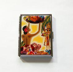 Hawaii Cigarette Case, Cigarette box, Slim Cigarette Case, Cigarette Holder…
