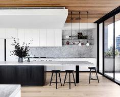 Ein anspruchsvolles Entertainer-Penthouse in Brighton - Kitchen - Haus Design Kitchen Design Open, Luxury Kitchen Design, Contemporary Kitchen Design, Best Kitchen Designs, Modern Design, Home Decor Kitchen, Kitchen Interior, Kitchen Ideas, Diy Interior