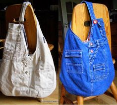 Fashion and Sewing Tips: RECYCLING OF JEANS Love the bib jean bag