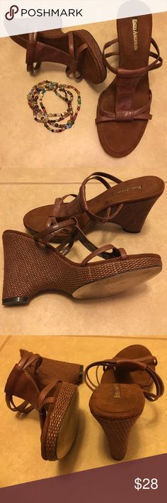 Enzo Angiolini Soft Leather Wedges Rich dark brown leather wedges size 8.5 by Designer Enzo Angiolini. great condition and kept in box. Inside is a suede like material. Beautiful shoe to wear with anything. Enzo Angiolini Shoes Wedges
