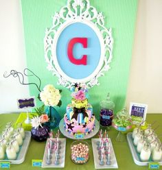 sweet 16 birthday party ideas girls for at home | Sweet 16 Dessert Table | Birthday Party Ideas - GIRLS