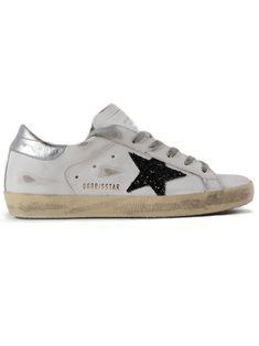 GOLDEN GOOSE | Golden Goose Golden Goose Sneakers Superstar Black Glitter #Shoes #Sneakers #GOLDEN GOOSE