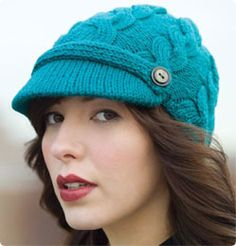 Cabled Chapeau from Debbie Stoller. Free pattern. Cute!
