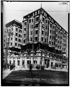 Construction Of The Connor Hotel In Joplin Mo 1907