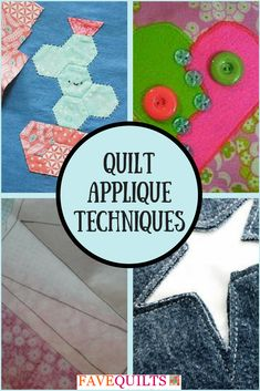 Master quilting applique techniques with this informative page!