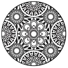 Coloring Page, Mandala, Instant PDF Download, Printable Coloring Page, Mandala Art, Zentangle, Black and White Art, Adult Coloring