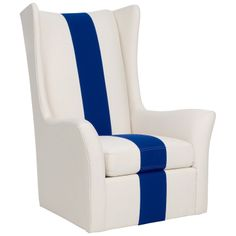 Copley blue and white chair