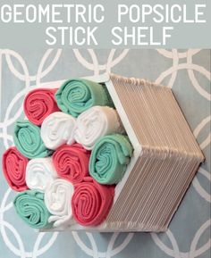 Make a shelf out of popsicle sticks and glue