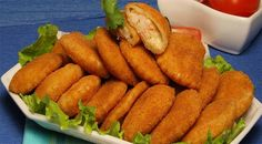 Portuguese recipe for shrimp pockets. Dip Recipes, Appetizer Recipes, Great Recipes, Cooking Recipes, Healthy Recipes, Portuguese Recipes, Spring Recipes, Fish And Seafood, Finger Foods