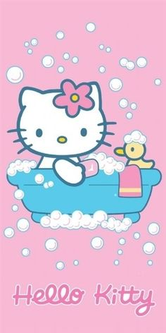 Bath time kitty. #hellokitty