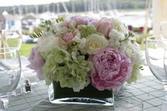 Yacht Club Wedding Centerpieces | BLUSH floral design: June Wedding at Guilford Yacht Club