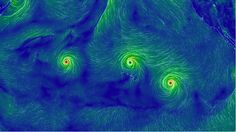 3 Hurricanes Are Hitting the Pacific at the Same Time, and the View From Space Is Amazing
