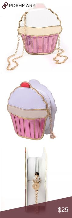CUPCAKE CROSSBODY BAG 💗Condition: NEW in original package. No flaws, no rips, holes or stains 💗Smoke free home/Pet hair free 💗No trades, No returns 💗No modeling  💗Shipping next day. Beautiful package! 💗I LOVE OFFERS, offer me! 💗ALL ITEMS ARE OWNED BY ME. NOT FROM THRIFT STORES 💗All transactions video recorded to ensure quality.  💗Ask all questions before buying Bags Crossbody Bags