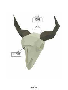 Paper Mache Crafts, 3d Paper, Bison, Scissors, Fighter Jets, Origami, Running, Ideas, Paper Envelopes