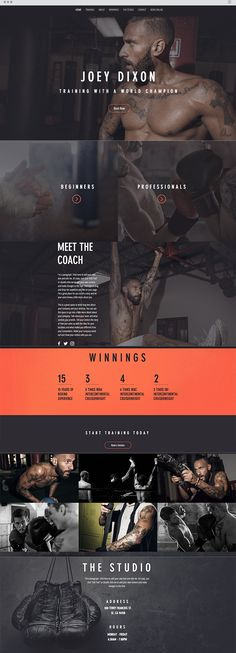 The Boxer Website Template