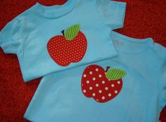 Brother Sister Back to School Apple Applique T Shirt