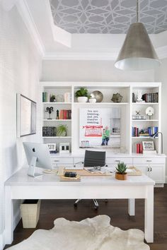So make sure you design your home office exactly how you want from the perfect colors, . See more ideas about Desk, Home office decor and Home Office Ideas. Ikea Home Office, Home Office Layouts, Home Office Space, Office Ideas, Small Office, Office Spaces, Work Spaces, Cozy Home Office, Office Setup