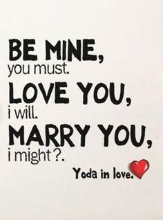 Yoda in Love Card