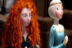 BRAVE TWINS - Merida & Erin - This is so beautiful! The masking is amazing, I would swear this was actually in the movie!