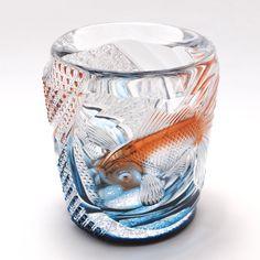 EdoKiriko Glass from Japan Cut Glass, Glass Art, Japan Crafts, Sandblasted Glass, Art For Art Sake, Glass Ceramic, Glass Design, Sculpture Art, A Table