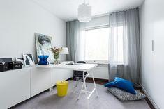 Kuvahaun tulos haulle työhuone sisustus Decor, Furniture, Home, Corner Desk, Office Desk, Office, Desk
