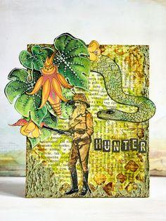 Viva Las VegaStamps!: Hunt or be Hunted -- by Natasha Serova for vlvstamps.com using #rubberstamps