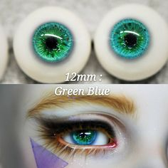 16mm  For BJD DOD AOD MK OK RD Doll Dollfie Glass Eyes Outfit ling Green 6