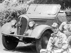 """九五式小型乗用車 くろがね四起 The Type 95 Kurogane (""""Black Metal"""") reconnaissance car was a Japanese scout car used during the war with China and World War II in the East. Between 1937 and 1945 approximately 4,800 were built. It was the only completely Japanese designed reconnaissance car ever used by the Japanese Army, which tended to use civilian cars."""