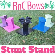 I'm so excited to offer these Cheer Stunt Stands...check them out!!   https://www.etsy.com/listing/195484453/cheer-stunt-stand-personalized