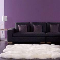 nuLOOM Alexa Sexto Sheepskin Wool Six Pelt Shag Rug (Natural), White, Size 4' x 5'6