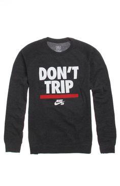 Mens Nike Sb Hoodie - Nike Sb Don't Trip Crew Fleece