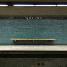 Place St-Henri Station, from the series Benched by John van der Woude, 2008 Station To Station, Metro Station, Light Rail Station, Metro Subway, New York City Travel, U Bahn, Urban Industrial, Aesthetic Pictures, Film