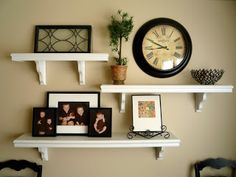 decorating with shelves and pictures - Google Search