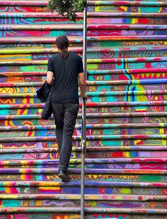 Public Art - Chalk stairs