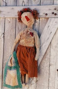 A primitive doll. Puppets, Country, Art Dolls, Sewing Crafts, Doll Clothes, Barbie, Reusable Tote Bags, Crafty, Quilts