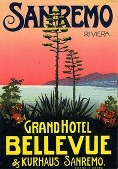 by Art of the Luggage Label, Sanremo, Liguria, Riviera #essenzadiriviera.com