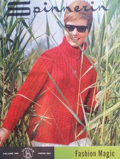 Spinnerin - Volume 165 - Fashion Magic Vintage Knitting, Chef Jackets, Knitting Patterns, Magic, Athletic, Fashion, Moda, Knit Patterns, Athlete