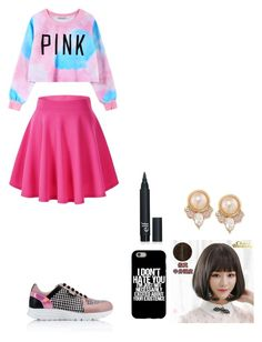 """""""Megan Wong"""" by hydrangea-princess-1 ❤ liked on Polyvore featuring Chicnova Fashion, Karl Lagerfeld, Clair Beauty and Carolee"""