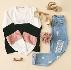 Image about fashion in Outfits 👗👒 by - You are in the right place about teenager outfits Here we offer you the most beautiful pictures ab - Girls Fashion Clothes, Teen Fashion Outfits, Girly Outfits, Cute Casual Outfits, Cute Fashion, Outfits For Teens, Stylish Outfits, Fall Outfits, Summer Outfits