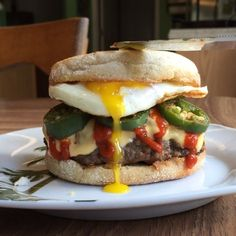 English Muffin Breakfast Fried Egg Jalapeños Sriracha Burger!  I'll let the video do the talking for me...... Next post will be the deats  no filter needed  Thanks and God Bless,  Zach  FlexibleDietingLifestyle.com  #flexibledietinglifestyle #ifitfitsyourlifestyle