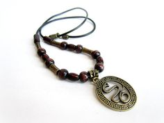 Snake necklace mens mens wooden necklace wood by Bravemenjewelry