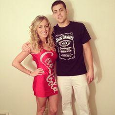 Jack and Coke Costume Halloween 2013 #cocacola #jackdaniels #college