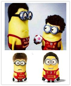 Liverpool Minions Suarez, Coutinho, Gerrard