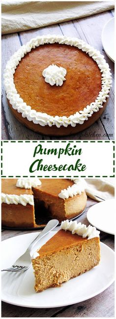 Pumpkin cheesecake is quite possibly one of the BEST seasonal recipes with its rich, creamy filling and buttery, graham cracker crust. via @berlyskitchen