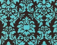 | Free Shipping on New Michael Miller Dandy Damask Turquoise Blue Fabric ...